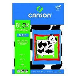 Blok rysunkowy A4 biały Canson 20ark.