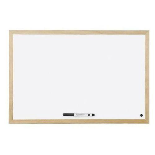 Tablice szkolne, Tablica suchościeralna BI-OFFICE 60x45cm rama drewniana
