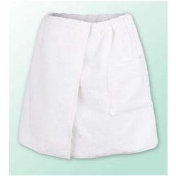 Sauna kilt ręcznik biały 100% bawełna męski 50*140 podwójna przędza