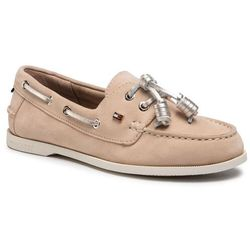 Półbuty TOMMY HILFIGER - Tommy Essential Boat Shoe FW0FW05639 Clayed Pebble AB3