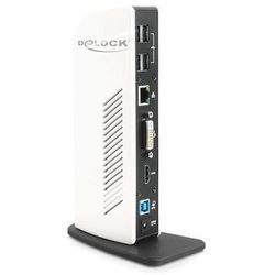 Stacja/replikator Delock replikator portów USB 3.0 biało-czarny (87568) Darmowy odbiór w 21 miastach!