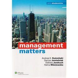 Management matters [PRZEDSPRZEDAŻ] (opr. broszurowa)