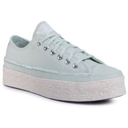 Espadryle CONVERSE - Ctas Espadrille Ox 567907C Green Oxide/White/Natural