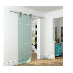 Naścienne drzwi przesuwne GLASSY - wys. 205 × szer. 73 cm - Szkło hartowane