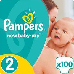 Pampers New Baby - Dry Pieluchy rozmiar 2 Mini 100 szt.