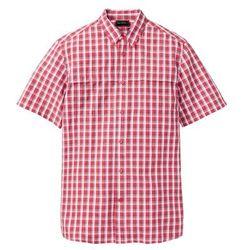 Koszula lniana z długim rękawem Slim Fit bonprix biały
