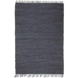 Ręcznie tkany dywanik Chindi, bawełna, 80x160 cm, antracytowy