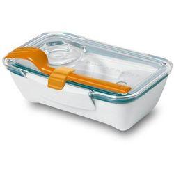 Pudełko na lunch Bento pomarańczowo-niebieskie