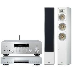 Zestaw stereo YAMAHA R-N602 + CD-S300 + NS-F350 Biały