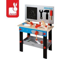 Stolik warsztat drewniany magnetyczny z 24 elementami Bricolo - JANOD
