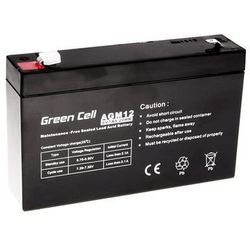 Akumulator AGM 6V 7Ah {151 × 35 × 100 mm} (GreenCell)