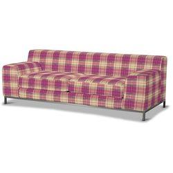 Dekoria Pokrowiec na sofę Kramfors 3-osobowa, różowo-beżowa kratka, Sofa Kramfors 3-osobowa, Mirella