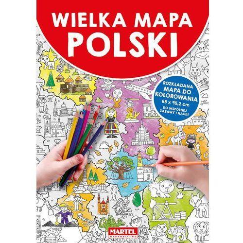 Książki dla dzieci, Mapa Polski - Praca zbiorowa (opr. broszurowa)