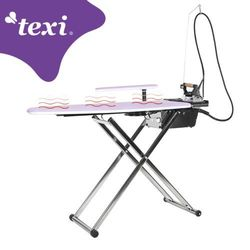 Stół prasowalniczy TEXI SMART S+B z automatyczną, zintegrowaną wytwornicą pary, żelazkiem i inteligentnym programowaniem czasu pracy turbiny