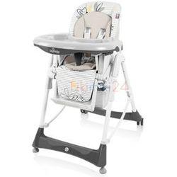 BABY DESIGN Krzesełko do karmienia BAMBI 07 szary