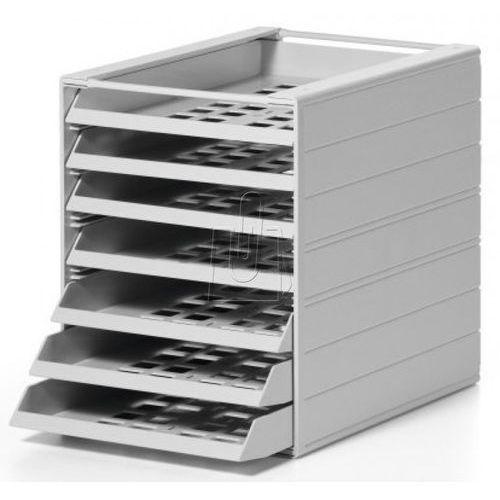 Kartony i pudła archiwizacyjne, Pojemnik z 7 szufladami Durable Idealbox Basic szary 1712002050