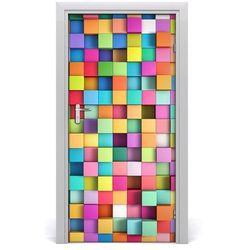 Naklejka samoprzylepna na drzwi Abstrakcja kwadraty
