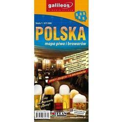 Mapa piwa i browarów - Polska 1:875 000 - Praca zbiorowa (opr. broszurowa)