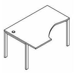Biurko kątowe BSA26 wymiary: 137x100(70)x75,8 cm