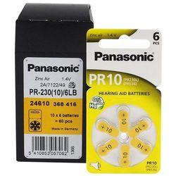 60 x baterie do aparatów słuchowych Panasonic 10 / PR10 / PR230L / PR536 / PR70