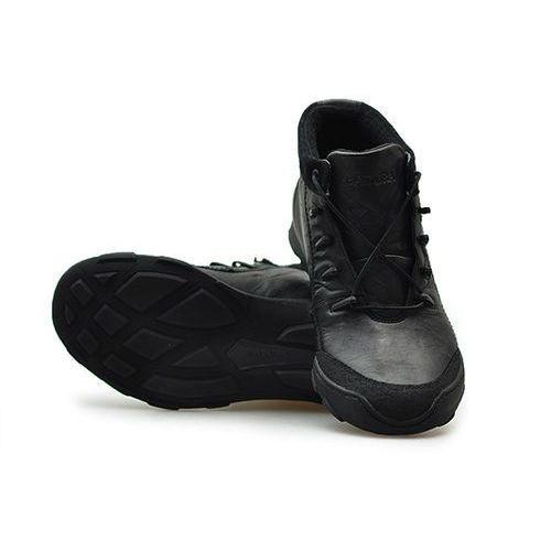 Kozaki męskie, Trzewiki Badura 4582-F Czarne lico