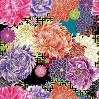 Pozostałe artykuły szkolne, Karnet kwadrat z kopertą Asian Floral
