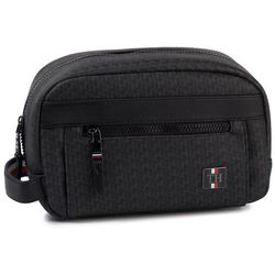 Kosmetyczka TOMMY HILFIGER - Coated Canvas Mono Washbag AM0AM05313 0HK