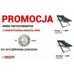 Okno dachowe OKPOL IGOV N22 78x140 + Markiza zewnętrzna OKPOL AMW 78x140