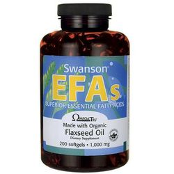 Swanson Flaxseed Oil Omega 3-6-9 1000mg 200 kaps.
