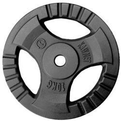 Obciążenie żeliwne do sztangi grafitowe (28,5 mm) 10 kg - 10 kg