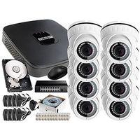 Zestawy monitoringowe, Rejestrator IP BCS BCS-NVR08015ME + 8x Kamera FullHD LV-IP2M2DFWH-II, 1TB + Akcesoria