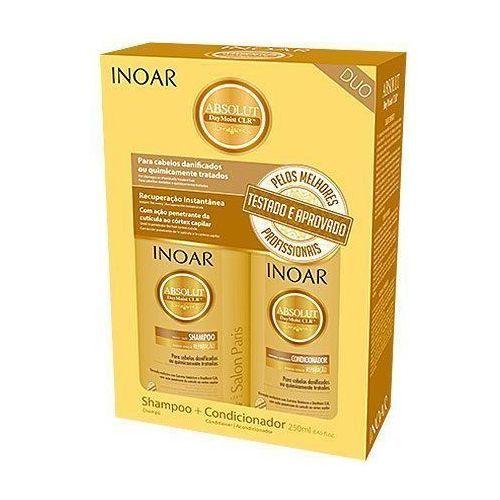 Mycie włosów, INOAR Absolut Daymoist CLR DUO PACK, szampon + odżywka nawilżające, 2x250g