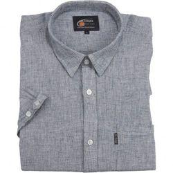 Lniana koszula męska w kolorze szarym, wyraźny splot Mr.Unique kr