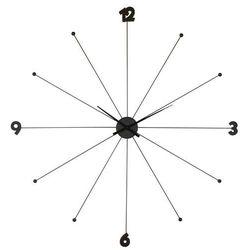 KARE Design:: Zegar Like Umbrella black - Kare design:: Zegar Like Umbrella ||srebrny