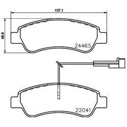 Zestaw klocków hamulcowych, hamulce tarczowe BREMBO P 61 125