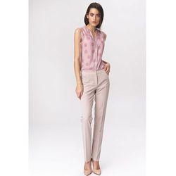 Jasnobeżowe klasyczne spodnie damskie - SD39
