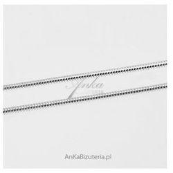 ankabizuteria.pl łańcuszek srebrny rodowany gruba linka snake - 35 cm, 50 cm, 55