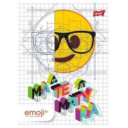 Zeszyt A5 w kratkę 60 kartek Emoji Matematyka 10 sztuk