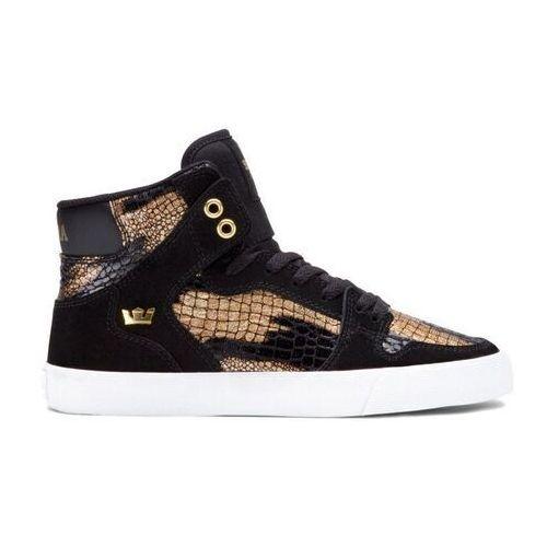 Damskie obuwie sportowe, buty SUPRA - Women-Vaider Black/Gold (BKG) rozmiar: 36.5