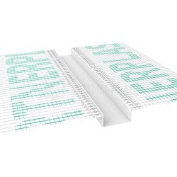 Listwa do boniowania z siatką 50x20 mm H=5cm, L=2mb pakiet 20szt.