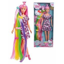 Steffi Love Lalka Hello Kitty z długimi tęczowymi włosami