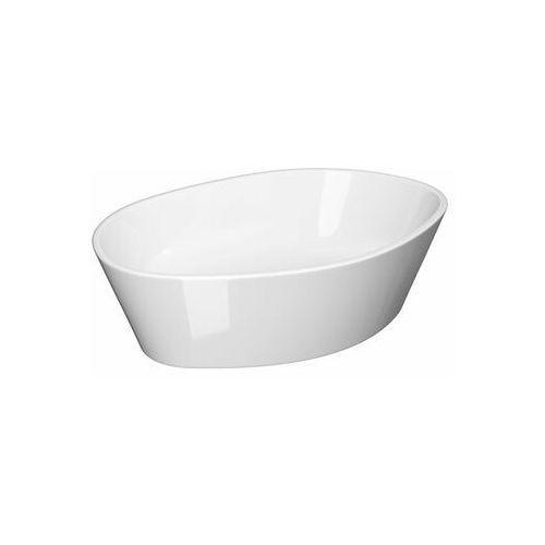 Umywalki, CERSANIT Umywalka nablatowa CITY 52,5cm owalna z ceramicznym korkiem K35-046