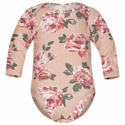 Body dla niemowląt z długim rękawem Róże Fluid - Dolce Sonno