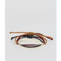 ASOS Faux Leather Bracelet Pack In Brown And Rust - Multi