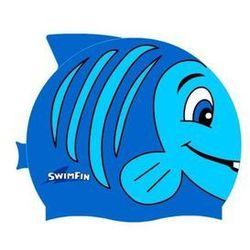 Silikonowy czepek dla dzieci SwimFin - niebieski