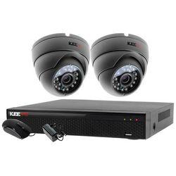 Monitoring do domu 2x kamera IR25m LV-AL25MD + Rejestrator LV-XVR44N + akcesoria