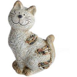 Dekoracja ogrodowa Kot z kamykami, 18 x 28,5 x 13 cm