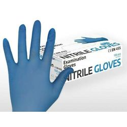 Rękawice nitrylowe care protective blue S