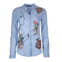 Desigual CAM BAIXINHA Koszula cameo blue - BEZPŁATNY ODBIÓR: WROCŁAW!