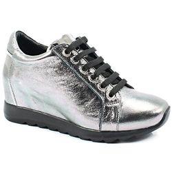 VENEZIA 058477219K SREBRO - Sneakersy z koturną